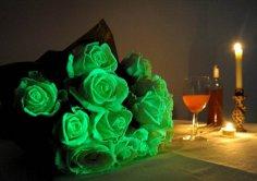 Светящиеся в темноте цветы – эксклюзивная новинка к Хэллоуину