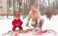 Чем чистили ковры наши бабушки