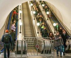 Что интересного на эскалаторе в метро? Царица Эвелина и другие люди